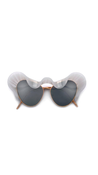 """Fancy""-Statement Architectural Ruffle Design Runway Sunglasses"