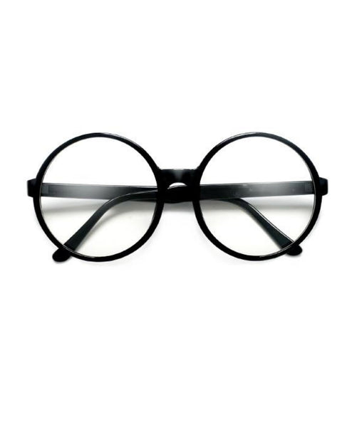 """Kay"" Super Oversized 69mm Round Boho Chic Clear Fashion Eyewear"