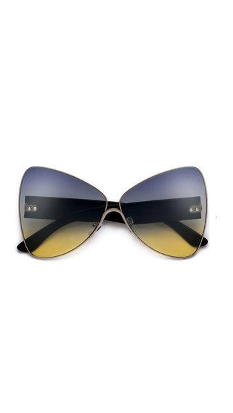 """Butterfly"" -Dramatic Oversized Butterfly Silhouette Lightweight Extraordinary Sunglasses"
