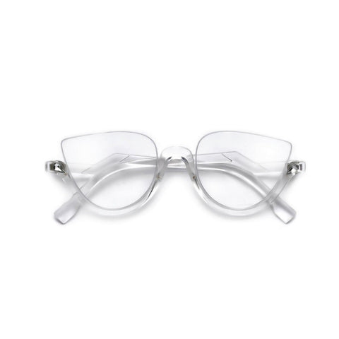 """Breezy"" Ultrachic, Half Frame, Crystal Adorned, High Fashion Frames"