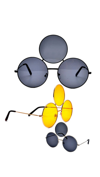 """Third""-TRIPLE ROUND LENS Sunglasses"