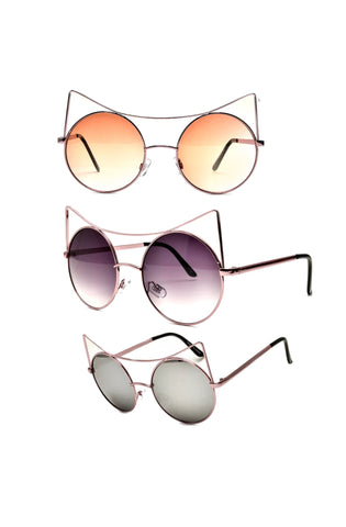 """Dawn"" Intense Cat-Eye Sunnies"