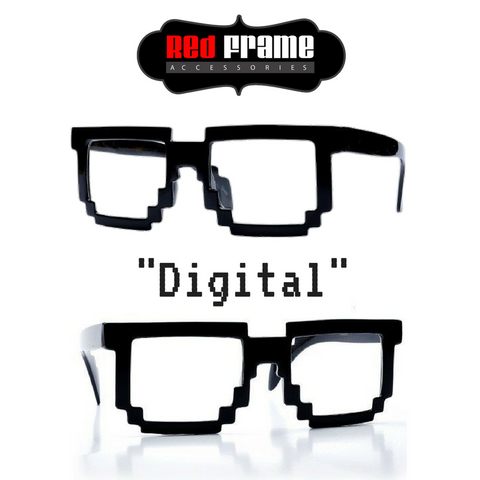 """Digital"" -pixelated block wayfarer style frame"