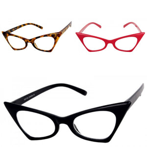 """Blink"" Vintage High Pointed Tip Cat Eye Fashion Frames"