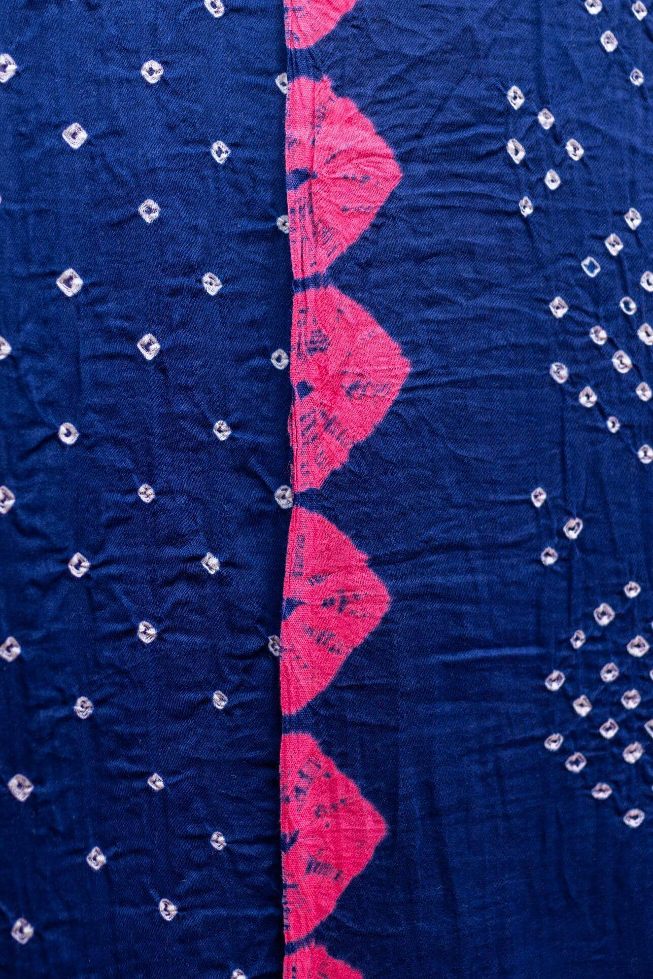 Bandhani - Blue and PInk