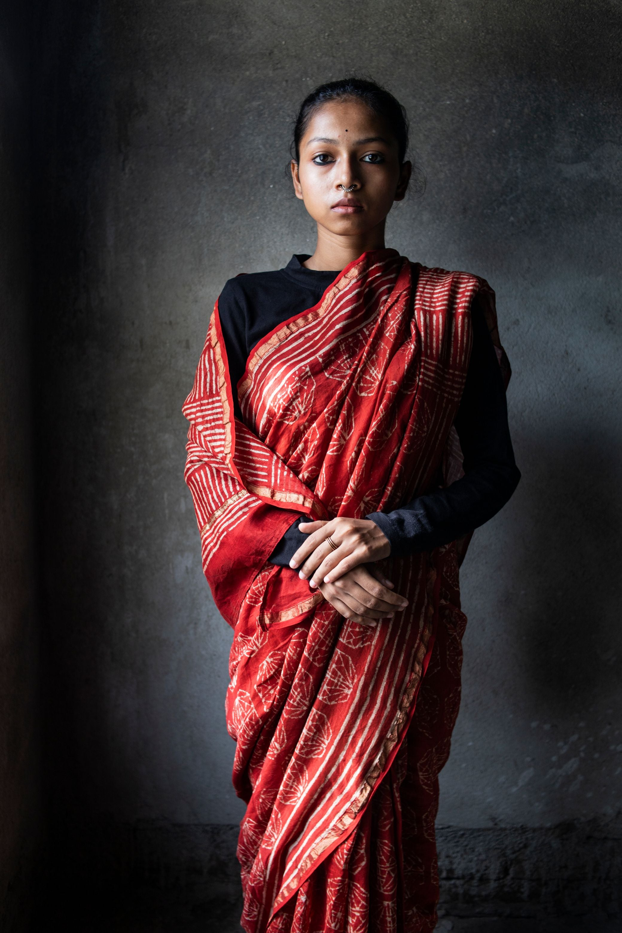 Kaisori Rust Silk Cotton saree - Kaisori