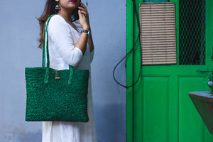 Sabai bag - green laptop bag - Kaisori