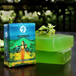 Kaisori Lemongrass Mint handmade soap from Kashmir - Kaisori