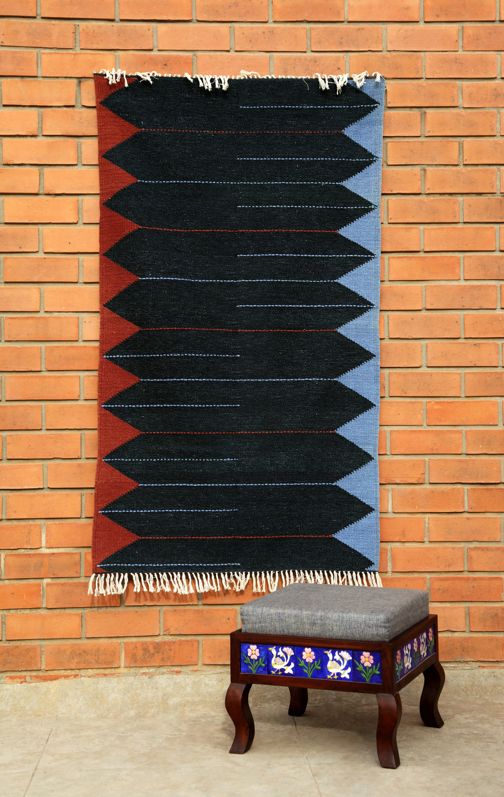 Rajasthan Cotton Chevron carpet - Kaisori