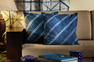 Kaisori Indigo Cushion cover - Indigo stripes - Kaisori