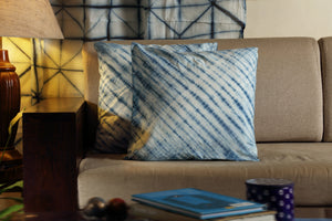 Kaisori Indigo Cushion cover - Stripes design - Kaisori