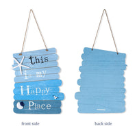 "From our HAPPINESS collection: Beach Style Wood Sign ""This is my happy place"""