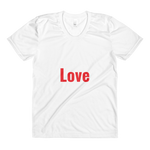 Sublimation women���s crew neck t-shirt - Red Love