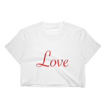 Women's Crop Top - Red Love