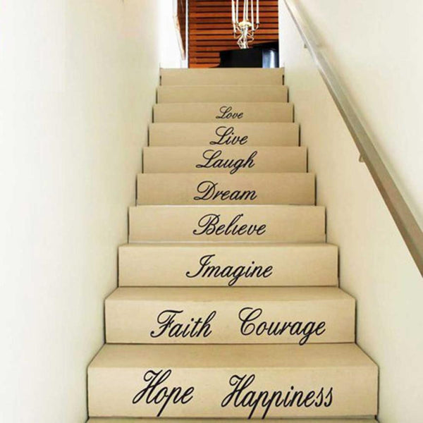 Super Deal  Hot!  Love, Live, Hope, Laugh, Wall Quote Decal Removable Stair Wall Stickers Decor Vinyl XT