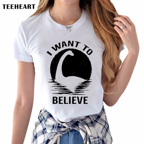 I Want To Believe. Women's T Shirt