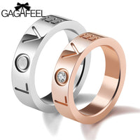 The LOVE rings. Stainless Steel
