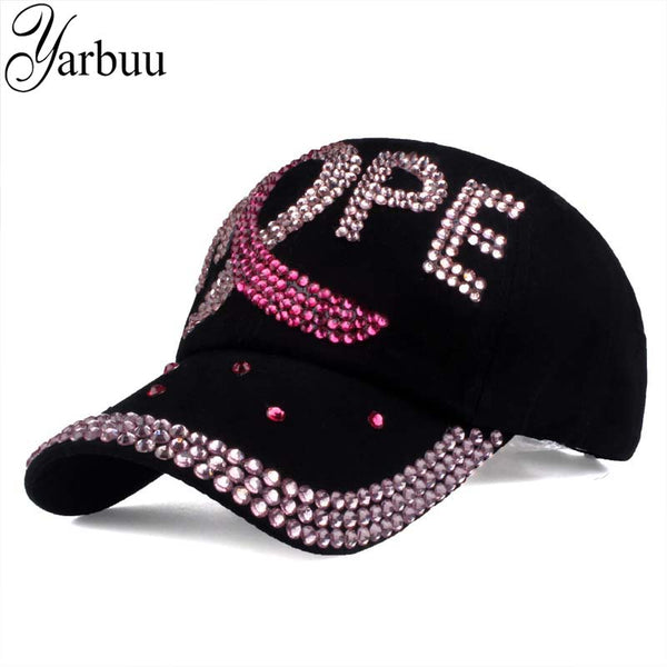 Women Rhinestone HOPE hat