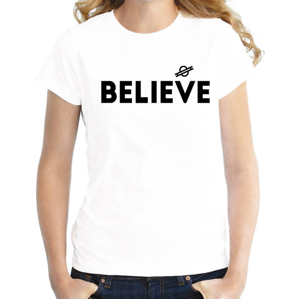 Ufo I Want to Believe 2017 Summer novelty t-shirt female girl TShirts Brand New kawaii t shirt Top graphic tees harajuku WTW365