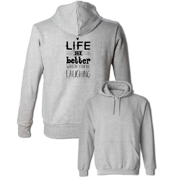 Men's Women's Life is Better When You Laughing Hoodie Pullovers Sweatshirt For Girl Boy Fashion Jackets Cotton Hoody Winter Coat