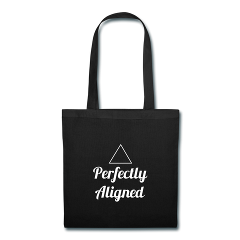 Aligned Tote Bag - black