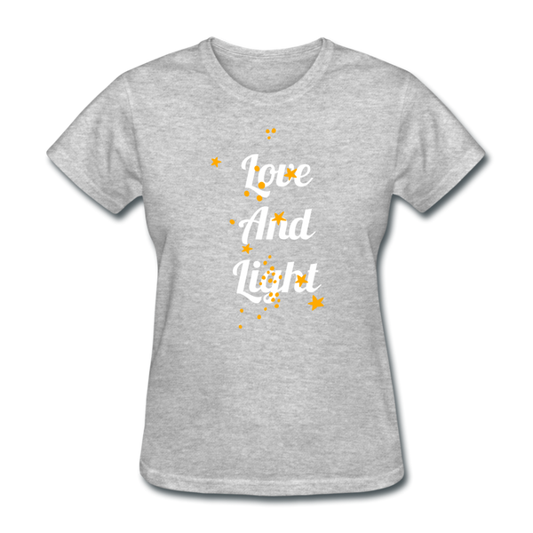 Love and Light Tee - heather gray