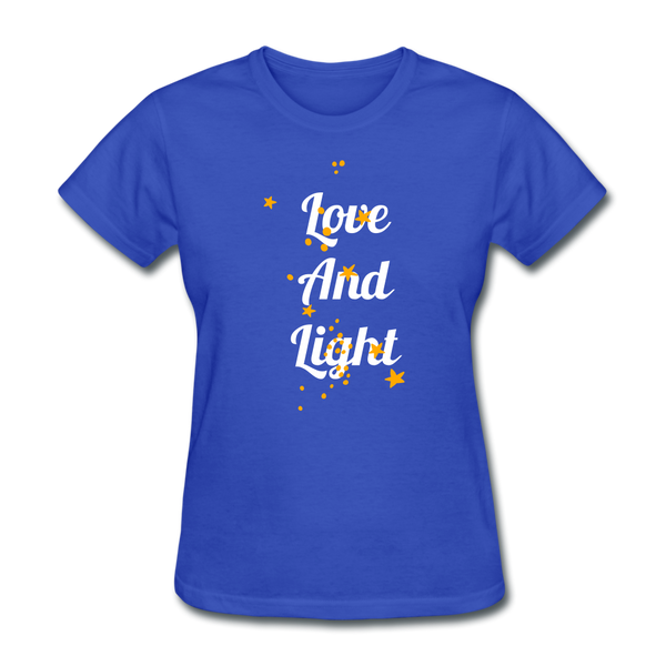 Love and Light Tee - royal blue