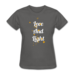 Love and Light Tee - charcoal