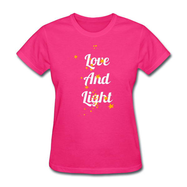 Love and Light Tee - fuchsia
