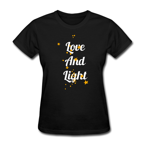 Love and Light Tee - black