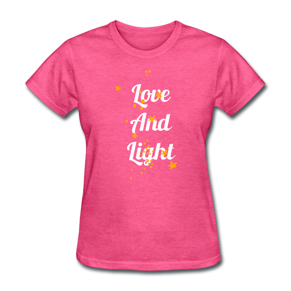 Love and Light Tee - heather pink