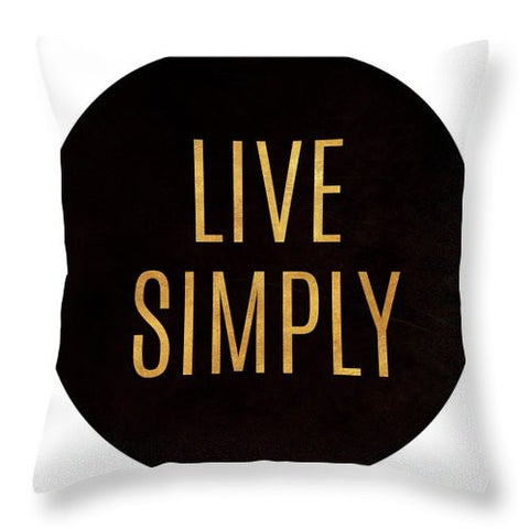 Love And Live Circle Throw Pillow