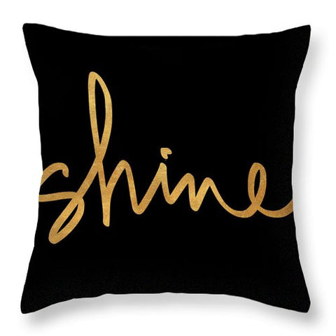 Shine On Black Throw Pillow