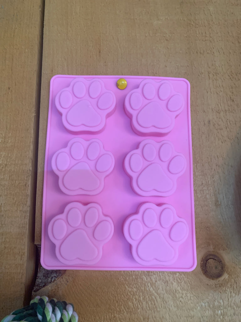 Paw Print Silicone Mold for treats etc