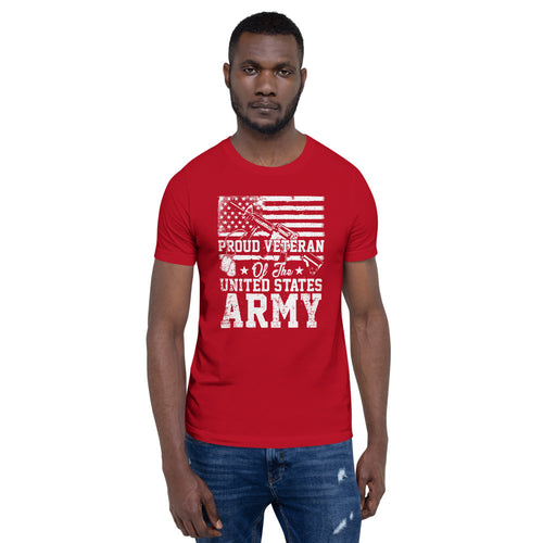 Proud Army Veteran Red - American T Shirt - American Approved