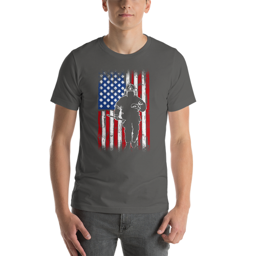 Fireman Flag  - Short-Sleeve Unisex T-Shirt - American Approved
