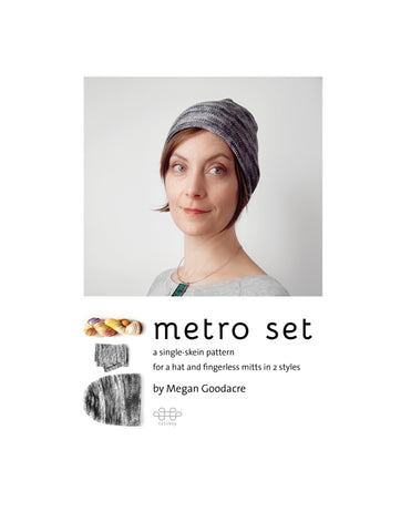Metro Set hat & mitts pattern is now available!