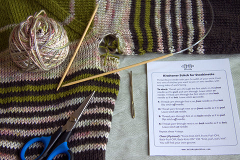 How to Graft Underarm Stitches in a Seamless Sweater - Part 1