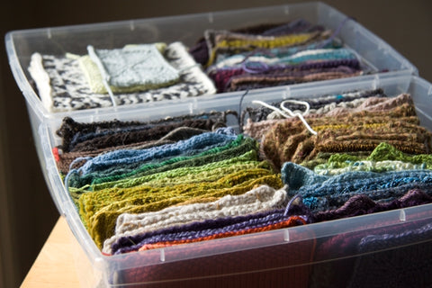 How to sort your knitting swatches