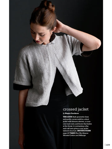 Crossed Jacket pattern now available for download at Interweave