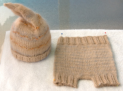 Knitted baby pants are teeny tiny fun