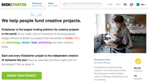 How to Fund Creativity online