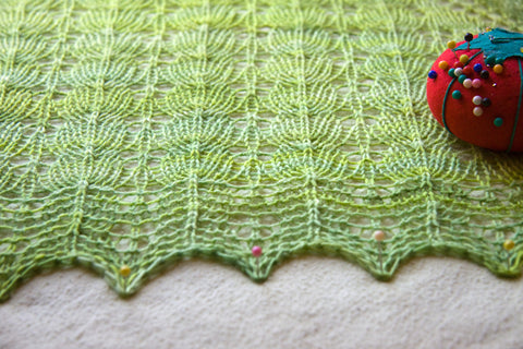 How to Block Knitted Lace