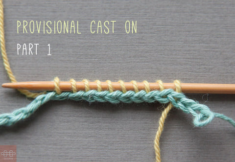 How to cast on: Making a provisional cast on