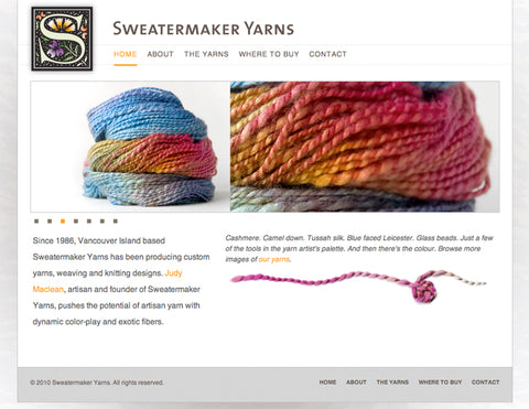 Sweatermaker Yarns website