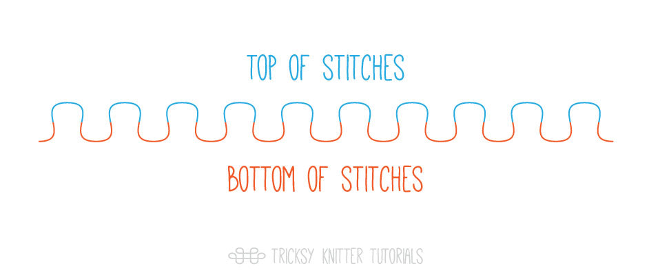 Tricksy Knitter: Basic anatomy of a knitted stitch
