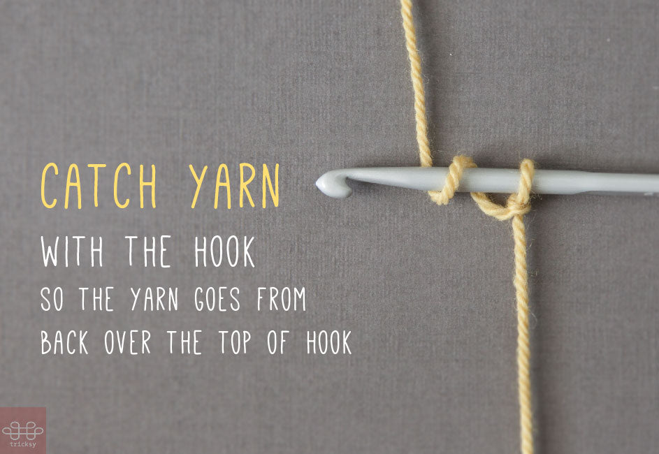 how to crochet: catch yarn
