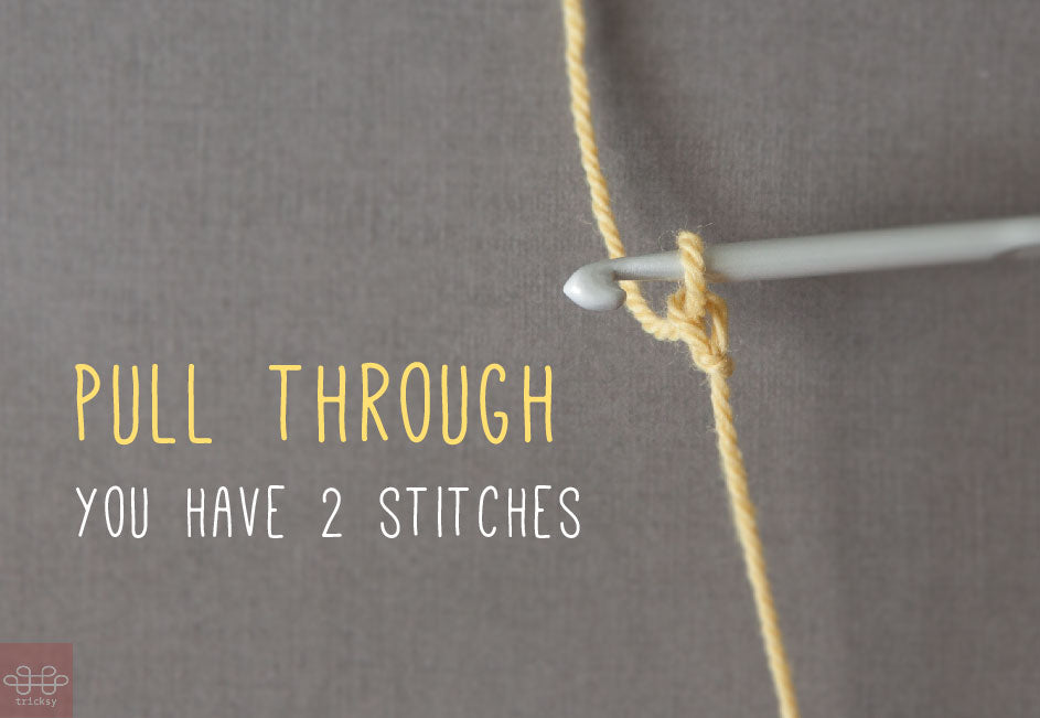 how to crochet: first stitch