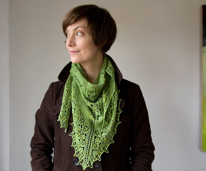 Fledge Shawl Knitting pattern by Megan Goodacre