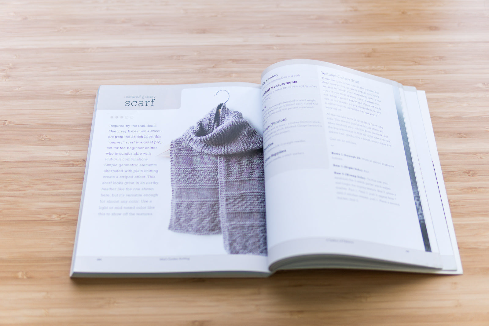 Gansey Scarf in Idiot's Guide to Knitting by Megan Goodacre